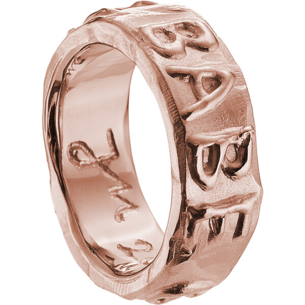 GOLD ERZ BABE Ring Pinkgold