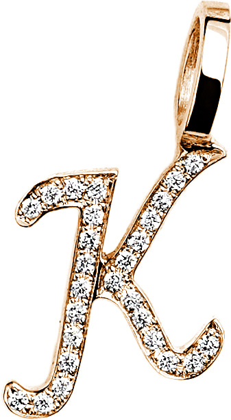 Tiny DIAMOND LETTER K Anhänger