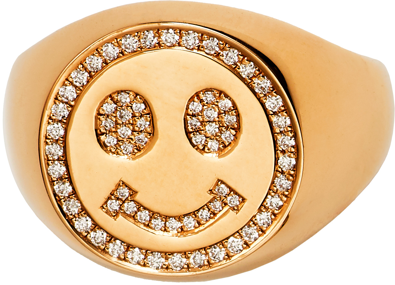 SMILING FACE SIGNET Ring
