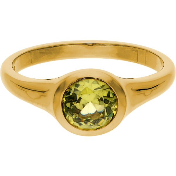 POINT  Ring Gelbgold, Peridot